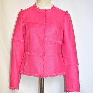 Worth New York 100% silk pink blazer jacket sz 2